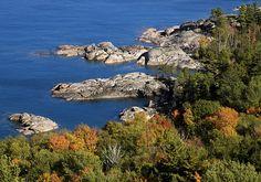 Porqupine Mountians and beatiful Lake Superior shoreline, Upper Peninsula, Michigan ~ CHECK