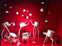 Elena Borghi: artista, scenografa, illustratrice e coltivatrice di parole dimenticate #hearts #scenography #papercraft #paperworks #love #red #white #elenaborghi #inkanto #sogni