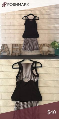 4bf702a1568 Bolle Tennis Skirt and Top Bolle tennis skirt and matching top. Houndstooth  dark brown and