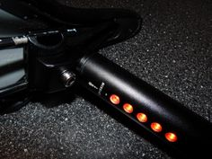 This Bicycle Seatpost LED Tail Light from Lightskin is kind of unique. Most bicycle tail lights are set at the back on the fender.