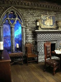 I thought this was an actual room, it's not, it is a miniature creation. Amazing!