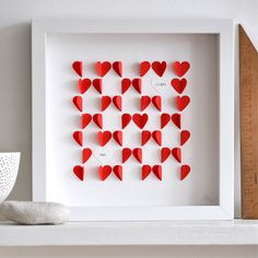 personalised love hearts framed picture by sarah & bendrix | notonthehighstreet.com