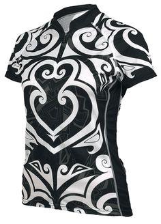 Maori Black Women's Cycling Jersey by Primal Wear Cycling Tops, Cycling Gear, Cycling Jerseys, Cycling Outfit, Cycling Clothes, Primal Wear, Women's Cycling Jersey, Bike Shirts, Bike Style