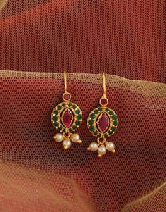 How Make Gold Jewelry Gold Jhumka Earrings, Jewelry Design Earrings, Gold Earrings Designs, Antique Earrings, Pearl Earrings, Real Gold Jewelry, Gold Jewelry Simple, Gold Bangles Design, Gold Jewellery Design