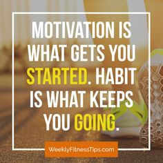 Motivation is what gets you started. Habit is what keeps you going. Motivation is what gets you started. Habit is what keeps you going. Fitness Models, You Fitness, Fitness Tips, Motivational Pictures, Motivational Quotes For Working Out, Inspirational Quotes, Fitness Motivation, Diet Motivation Quotes, Fitness Inspiration