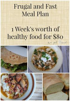 Frugal and Fast Meal Plan (November edition).  Healthy slow cooker meals and fast meals for a week for $80.