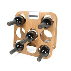 Bamboo Wine Rack from Metrokane - nice design, you can fold it up when not in use...