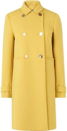 LK Bennett Bay Yellow Gold Coat