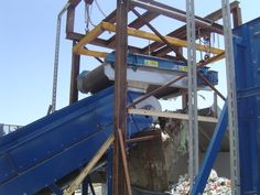 #recycling in action - a Permanent Overband Magnet recovering steel UBCs from household waste Magnets, Recycling, Household, Around The Worlds, The Unit, Steel, Metals, Sunshine, Action
