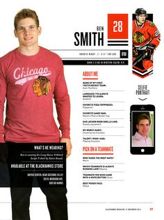 28    BEN SMITH - Blackhawks Magazine surveys 2014-15 5aa91aca2