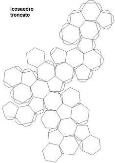 Modelli dei 5 poliedri troncati