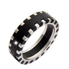 Steel and Celluloide Rings For Men, Vogue, Steel, Bracelets, Leather, Jewelry, Products, Fashion, Moda