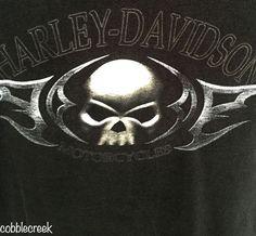 Harley-Davidson T-Shirt XL #Skull Black House of Harley #Milwaukee #WI Short Sleeve #HarleyDavidson #GraphicTee