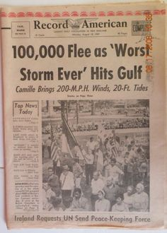 What Is A Headline | 1979 Sept 13th Hurricane Frederic hits just east of here with 130mph ...