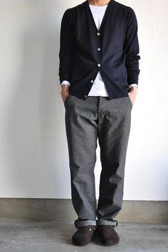 Garment Reproduction of Workers / ガーメントリプロダクションオブワーカーズ French Work Trousers… Fall Fashion Outfits, Cool Outfits, Autumn Fashion, Mature Mens Fashion, Work Trousers, Looks Cool, Casual, Menswear, Street Style