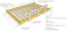 I guess this is my contribution to Get Woodworking Week. How to build a loft bed. This is for a full size bed. Everything you need to build it as well as the SketchUp file for you to modify as needed is here. The footboard side is a full ladder. Full Bed Loft, Build A Loft Bed, Loft Bed Plans, Loft Plan, Murphy Bed Plans, Safe Bunk Beds, Cool Bunk Beds, Bunk Beds With Stairs, Kids Bunk Beds