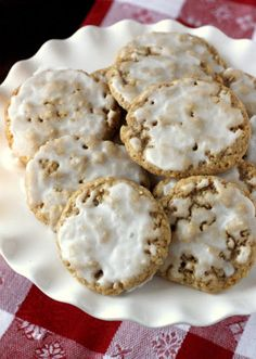 Soft Iced Oatmeal Cookies