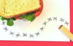 Ant  Rubber Stamp. $2.30, via Etsy.