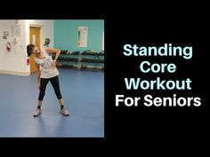 Standing Ab Workout For Seniors - Fitness With Cindy This standing ab workout uses a weight to tighten the midsection, strengthen the core, improve balance and reduce lower back pain. Standing Ab Exercises, Back Exercises, Standing Abs Workout, Belly Exercises, Yoga Exercises, Boxing Workout, Workout Fitness, Stretches, Senior Fitness