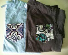 XL Custom Long Sleeve T-shirt with Pocket- NEW FABRICS via Etsy