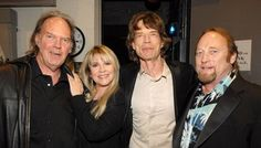 Mick Jagger, Stevie Nicks, Stephen Stills and Neil Young