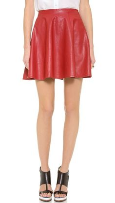 Lovers + Friends Monica Rose Charlie Leather Skirt  PERFECT FOR V DAY!!
