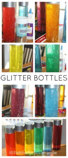 Glitter Bottles Calming and mess free sensory play that the kids will love ( simple kid fun)