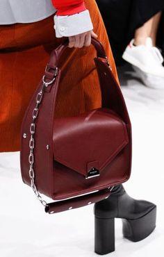 Повседневная дамская сумка-коробка бордового цвета из кожи