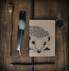 Eco Recycled Hedgehog Notebook plain by IsabelDesign on Etsy, $6.60