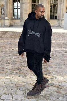 Kanye in Vetements and Yeezy