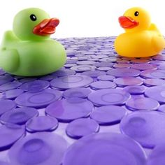 Sea of Circles Bath Mat - Purple SlipX Solutions