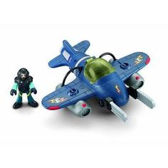 Avião Sky Racer Tornado Jet Imaginext Fisher Price - Mattel Os meninos vão adorar esse avão da coleção Imaginext. Ele possui dispositivo que faz ele girar ao apertar o botão. Acompanha figura de aproximadamente 8 cm e acessórios. Complete sua coleção!