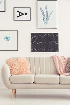 Graceful blue living room bench made easy