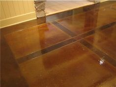 Basement Reno Idea: Acid Stain U0026 Sealed Concrete Floors