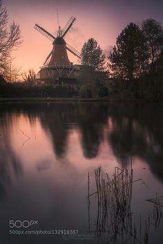 Don Quixotes Giant - Pinned by Mak Khalaf Windmill Hamburg Germany Landscapes…