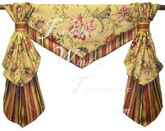 This valance reminds me of placemats and napkins.  Would look good in a kitchen.
