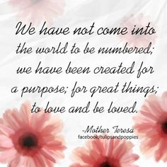 Quote from Mother Teresa #wordsofwisdom click picture to follow the story of two sisters who happen to be writing partners #tulipsandpoppies