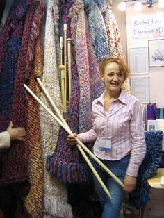 Rachel John (Extreme Knitting)...one of my knitting heroes!      (I met her today,  25 jan,  at sandown craft fair, yes I bought giant knitting needles to go with Buffy my giant crochet hook GG)