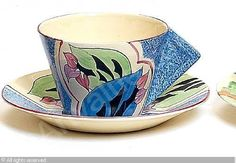 CLIFF Clarice,'Blue Cowslip' cup and saucer 1930,Bonhams,London