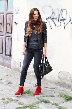 rock casual fashion outfit look! fall winter 2013 2014 h&m / comptoir des cotonniers / sarenza / fornarina  www.ireneccloset.com fashion blog