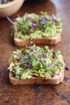 Try this simple and delicious Avocado Toast and Microgreens for a quick breakfast. The healthy fat from the avocado will help you stay full until lunch.
