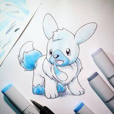Artist: Itsbirdy | Pokémon | Pokefusion | cubchoo | eevee | cubvee