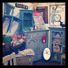 Our smashing pop-up shop at the Decorative Living Fair today selling our lovely Annie Sloan painted furniture.
