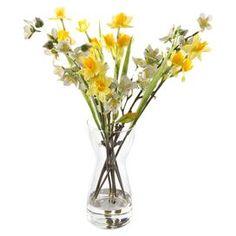 Artificial Daffodil & Blossom in Vase