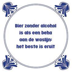 Tegeltjeswijsheid.nl - een uniek presentje - Bier zonder alcohol