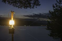 Gas lamp in the nature by Deyan Georgiev  on Creative Market