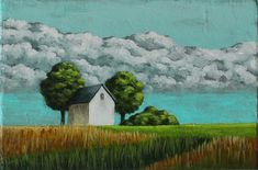 Small landscape painting, Countryside painting, Barn, Prairie & cloud, Impressionist Art, Small original art, Acrylic on canvas, 4x6 inches Etsy Handmade, Handmade Gifts, Crow Painting, Acrylic Paint On Wood, Etsy Shop Names, Impressionist Art, Affordable Art, Art Online, Landscape Paintings