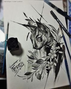 Tattoo sketches, cat tattoo designs и tattoo drawings. Tattoo Sketches, Tattoo Drawings, Tattoo Cat, Beautiful Tattoos, Cool Tattoos, Amazing Tattoos, Blackwork, Cat Tattoo Designs, Gothic Tattoo