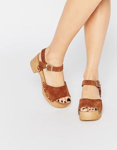 ASOS+TICKLE+Suede+Clog+Sandals