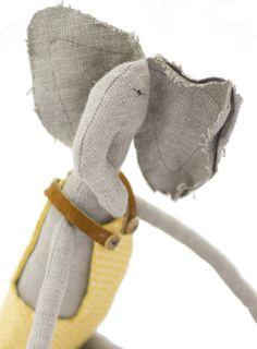 handmade elephant plush.
